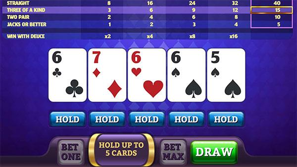Play Pogo Double Deuce Poker HD Unblocked Online