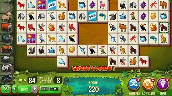 Play Pogo Mahjong Safari HD Animal Online